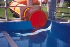 dojezd do plastového bazénu